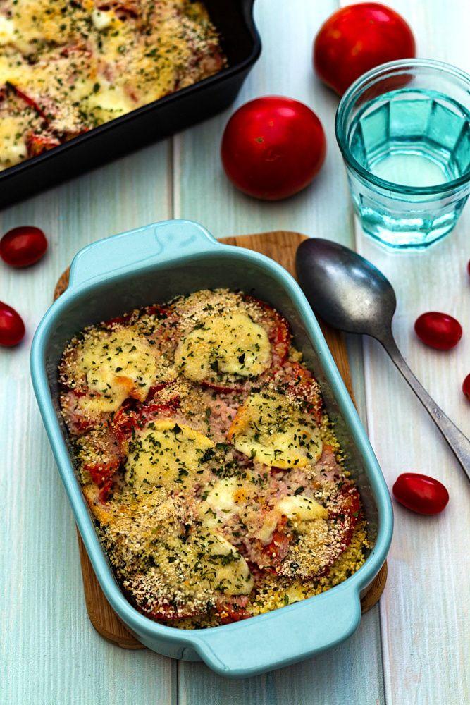 Gratin à la tomate, jambon et mozzarella   Recettes de ...