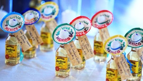 Mini Tequila Wedding Favors Doing This