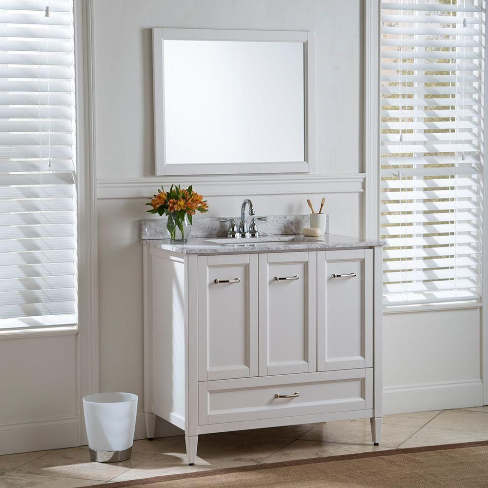 Home Decorators Collection Claxby 37 in. W x 22 in. D Bath Vanity in ...