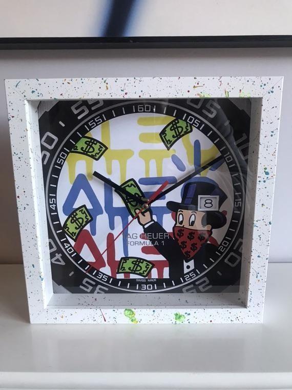 Tag Heuer Alec Monopoly Formula 1 Wall Clock Desk Clock Unique