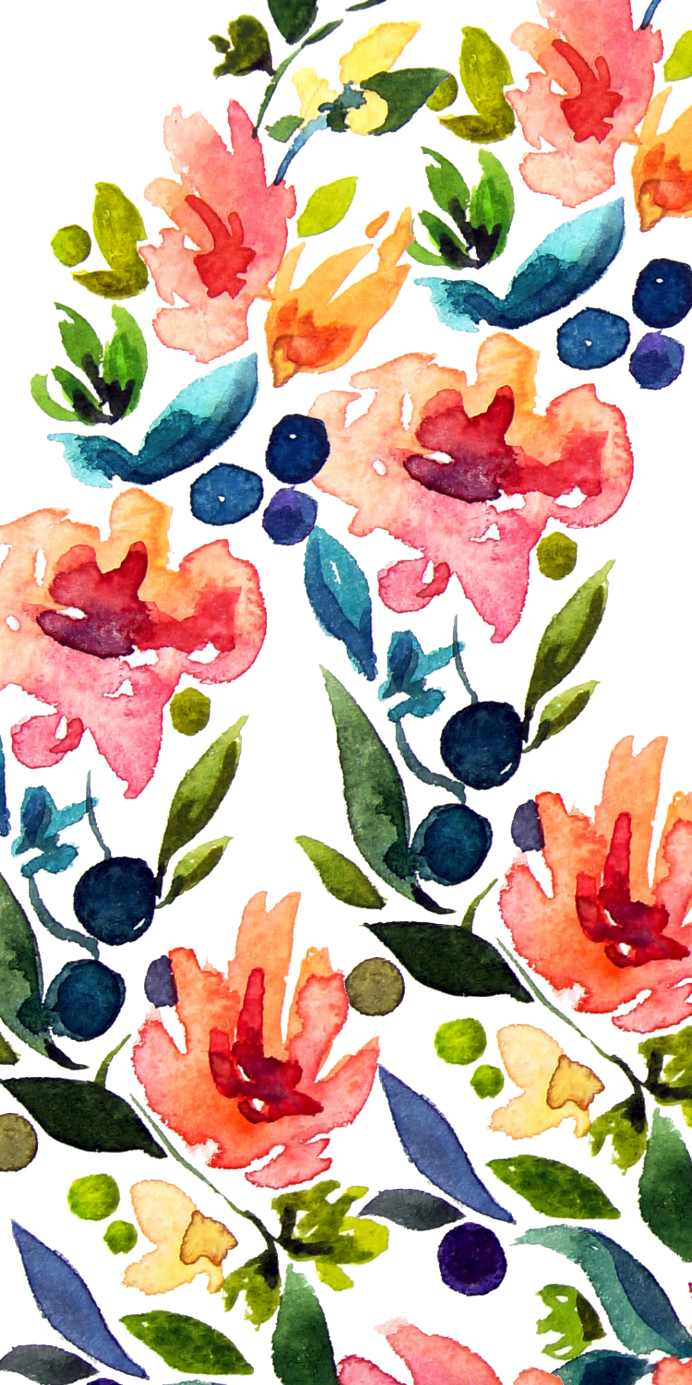 Watercolor Flowers Casetify Iphone Art Design Illustration