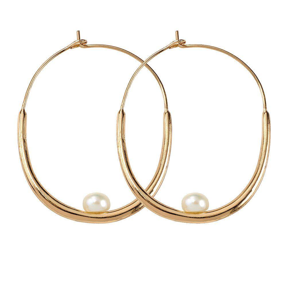 Samantha Wills Hunter & Gatherer Hoop Earrings - Pearl/Gold
