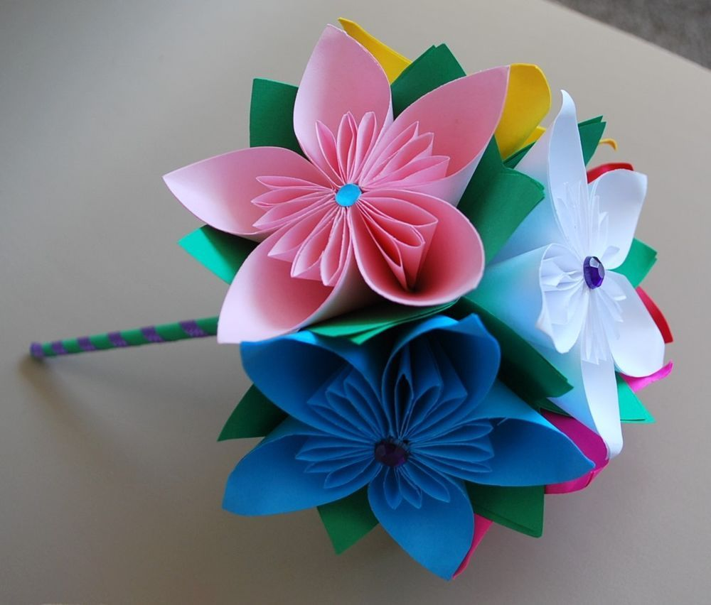 Wedding Bridal Bouquet Origami Flowers Birthday Anniversary Gift