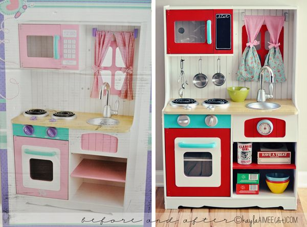 Attractive Scarletteu0027s Play Kitchen Makeover (aka Mommy Gets Crafty)