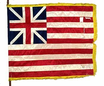 Grand Union flag said to be first flag of the US ..It was our unofficial national flag on July 4, 1776, Independence Day; and it remained the unofficial national flag and ensign of the Navy until June 14, 1777, when the Continental Congress authorized the Stars and Stripes.this would be neat to paint on a dresser