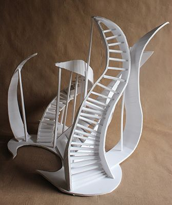 how to construct a foam board staircase sculpture in 2018