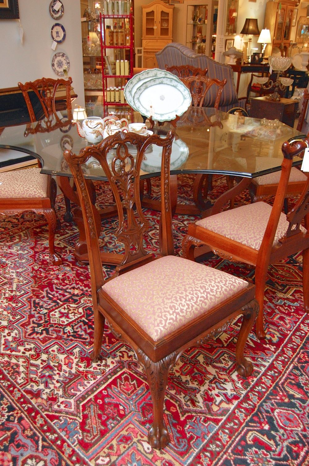 Set Of 8 Dining Room Chippendale Chairs Chippendale Chairs Chair Dining Room