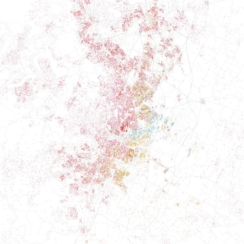 Demographics Austin by Eric Fischer. (With images