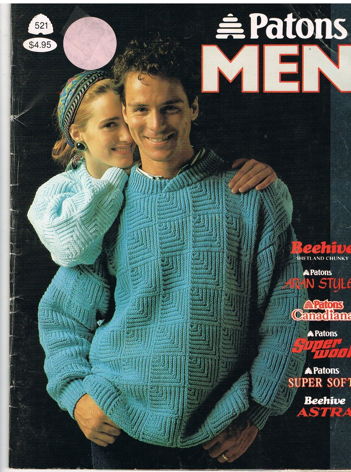 Patons Knitting for Men Pattern Book   Pattern books, Knitting ...