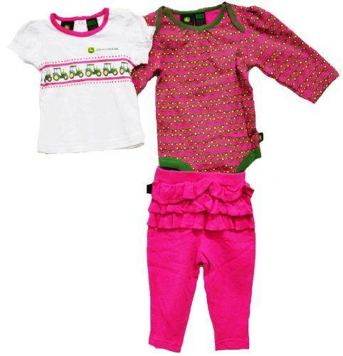6c3aae0f5 John Deere Baby 3 Piece Layette Set Ruffle Pink (6-9 Month) « Clothing  Impulse