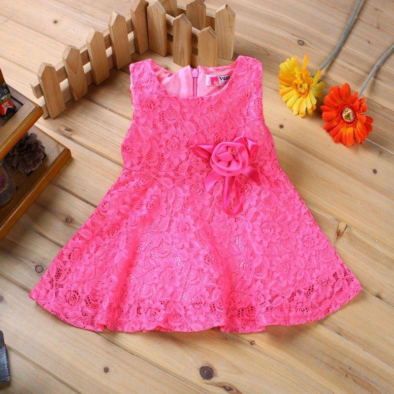 Hot! 1 ano vestido de aniversário para bebês princesa rendas 100 ...