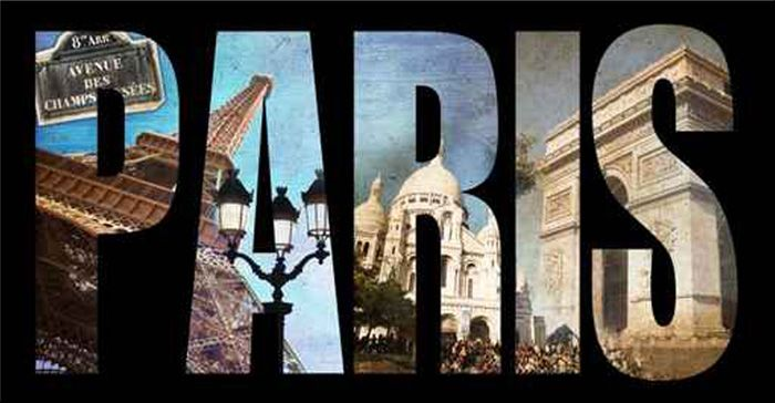 40253804 / Cuadro letras Paris collage http://www.cuadrostock.com.mx/detail/Cuadro_Collage_Paris_01-21920.html