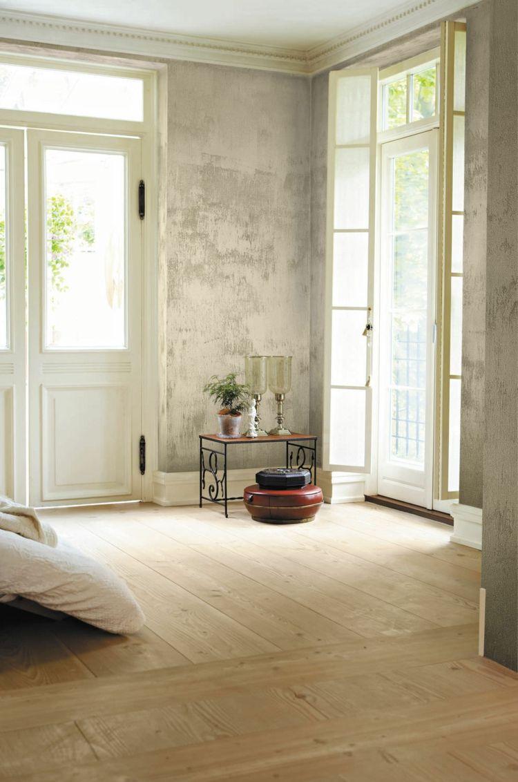 putz waende interieur gestaltung hellgrau shabby chic   Wohnung in ...