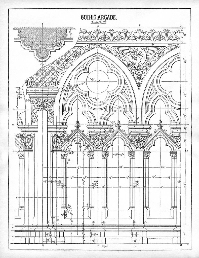 Architecture Printable Gothic Arches