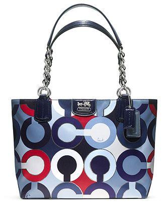 COACH MADISON GRAPHIC OP ART METALLIC TOTE - Coach Handbags - Handbags & Accessories - Macy's