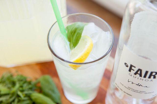 {basil lemonade summer cocktail}