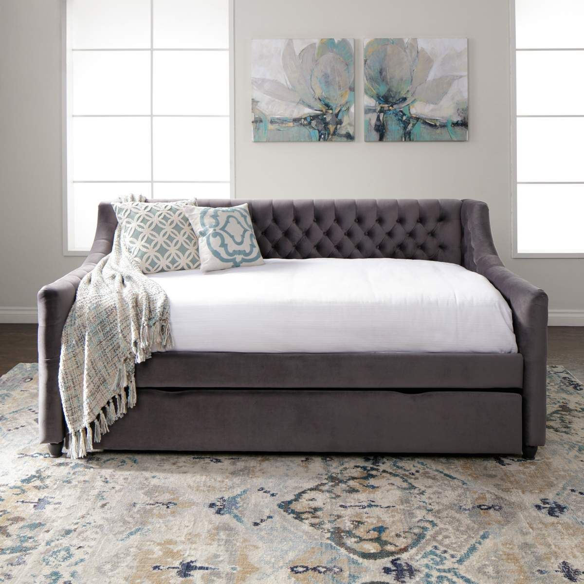 Vivvian Daybed Room Full Daybed With Trundle Daybed With Trundle