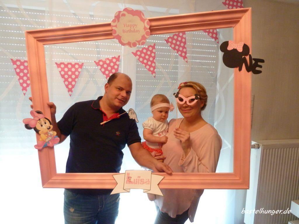 Minnie Mouse Geburtstag. First Birthday Fotorahmen für Erinnerungen ...