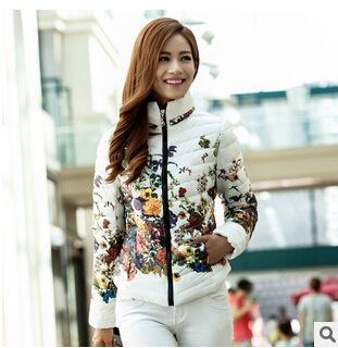 2014 autumn and winter new fashion slim cotton prints short design women Floral wadded jacket cotton-padded jacket A1536 - http://www.styliate.me/http://www.styliate.com/products/2014-autumn-and-winter-new-fashion-slim-cotton-prints-short-design-women-floral-wadded-jacket-cotton-padded-jacket-a1536/