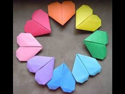 Origami Blaetter , Kako Napraviti Srce Od Papira How To Make Origami Heart