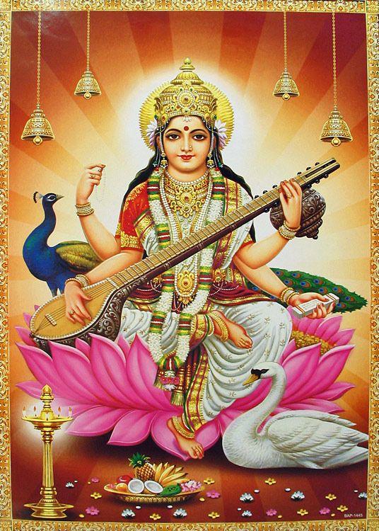 Saraswati   Saraswati Sarasvati Empowered Wish Giving Swan Tibetan Goddess Power ...