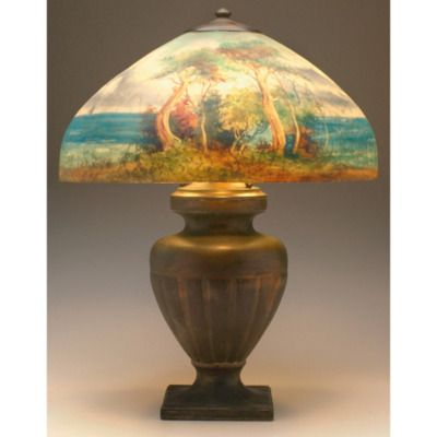 Indigo dreams handel lamp antique lampsvintage