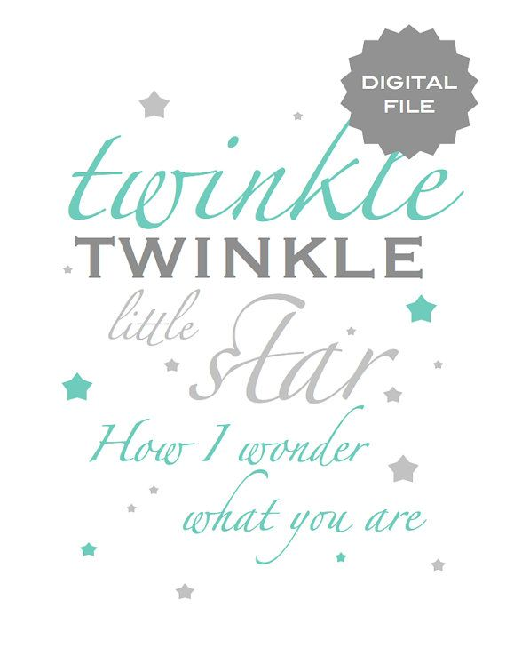 Twinkle twinkle little star baby room printable | Whoa, baby