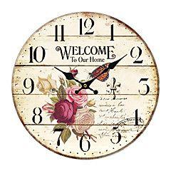 N//A Horloge Murale /à Suspendre avec Drapeau de la Jama/ïque Rasta Lion 25,4 cm /à Piles d/écoration Murale Rustique pour Le Salon