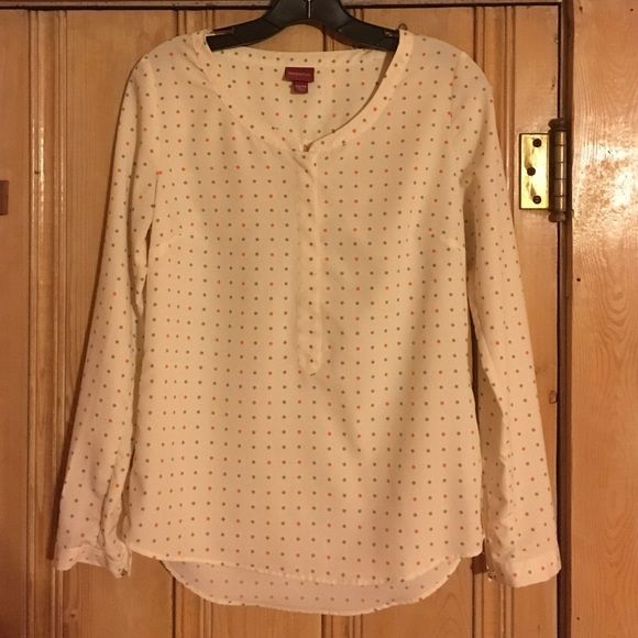 Polka dot work shirt This super cute shirt adds style to any office setting! Merona Tops