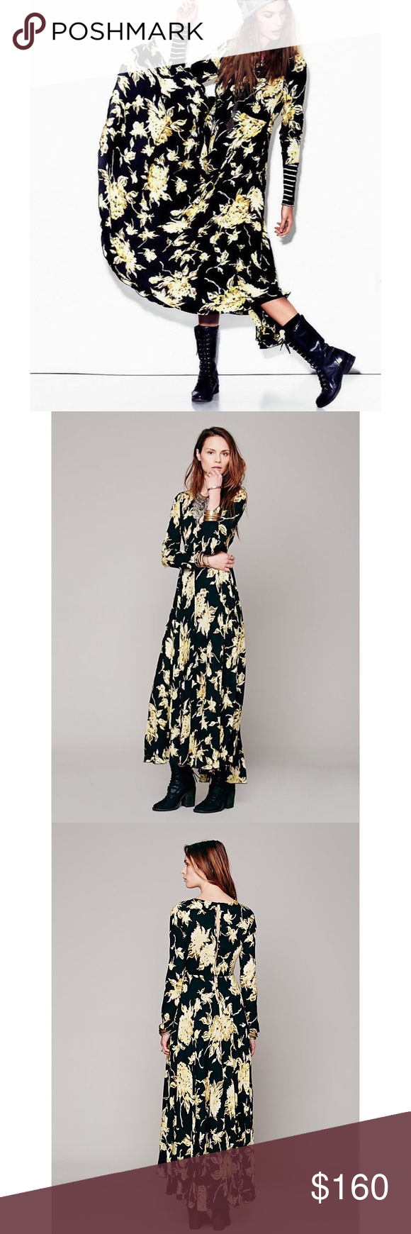 Free people first kiss maxi dress first edition free people