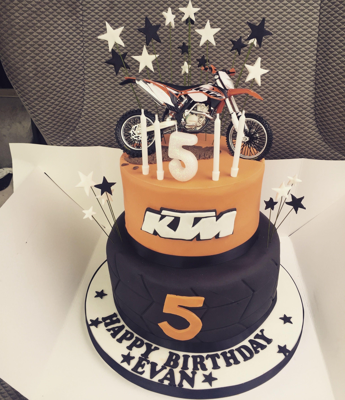 Ktm Cake Happy 5th Birthday Motocross Cake Motox Birthday Fun