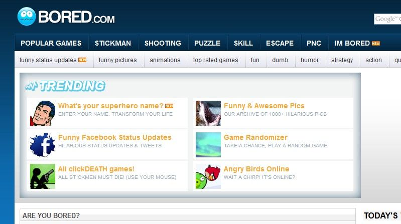 i bored games online am