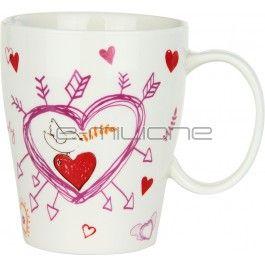 Mug in porcellana decorata, ideale per la colazione o per guastare la propria bevanda calda preferita