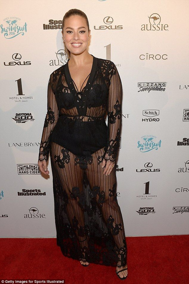Dare To Bare Ashley Graham Flashed Her Underwear In A Y Semi Sheer Dress As She Attend