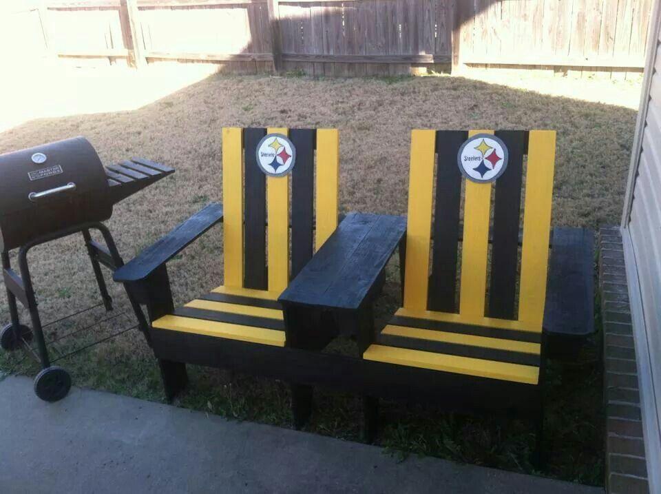 """Pittsburgh Steelers patio furniture - PITTSBURGH STEELERS CHAIRS """"�ℒÅℂK & YℰℒℒÕW~รTEELERร """"�ATIOℕ"""