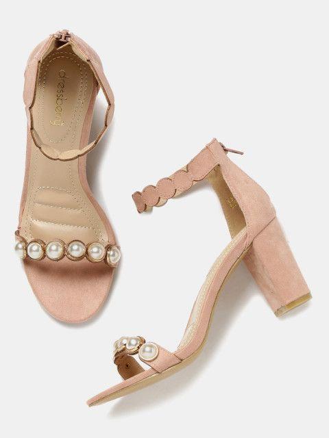 06d16e5b2774 Buy DressBerry Women Pink Solid Sandals - Heels for Women 2178557 ...