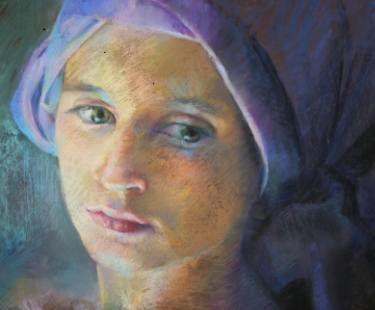 "Saatchi Art Artist Karina Knight; Drawing, ""SOLD girl in turban"" #art"
