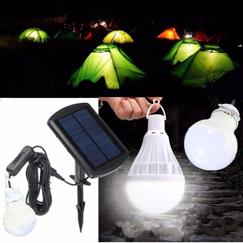 Portable Solar Panel Power Sensor Led Bulb Light Outdoor Camp Tent Fishing Lamp Outdoor Lighting From Lights Lighting On Banggood Com Solar Panels Portable Solar Panels Camping Lights