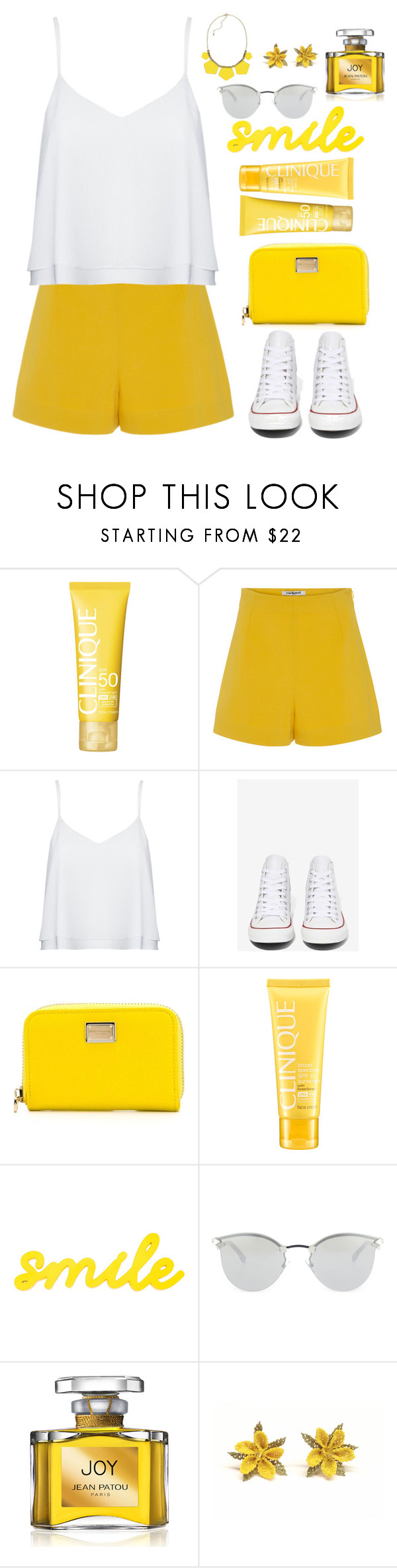 """Bez naslova #110"" by dzchocolatess ❤ liked on Polyvore featuring Clinique, Cacharel, Alice + Olivia, Converse, Dolce&Gabbana, Fendi, Jean Patou, women's clothing, women's fashion and women"