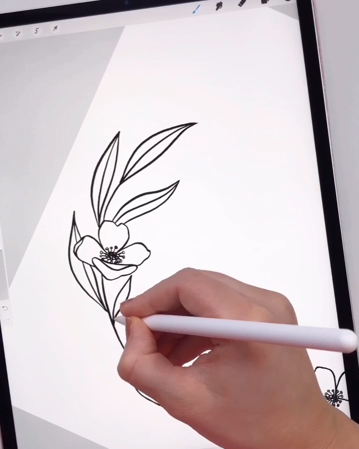 Photo of Drawing a floral wreath in Procreate by Skyla Design #modernflorals #floral #flo…