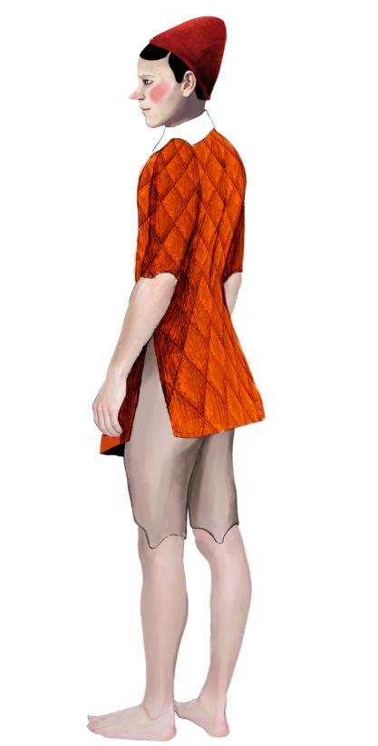Pinocchio costume design. (Designer Maria Porro)