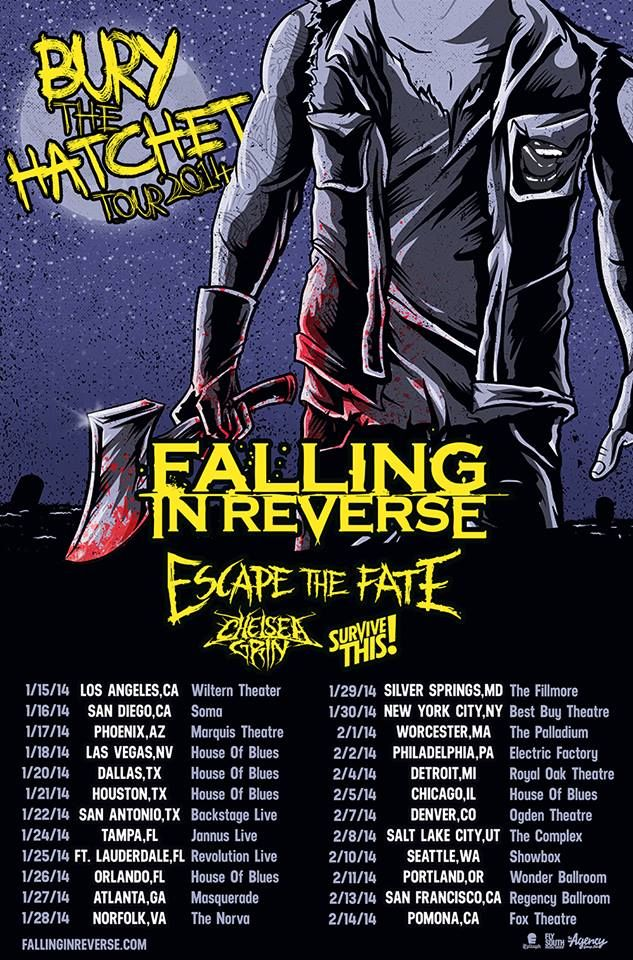 Survive This Releases New Video Joins The Bury The Hatchet Tour With Falling In Reverse Escape Falling In Reverse Escape The Fate Falling In Reverse Poster