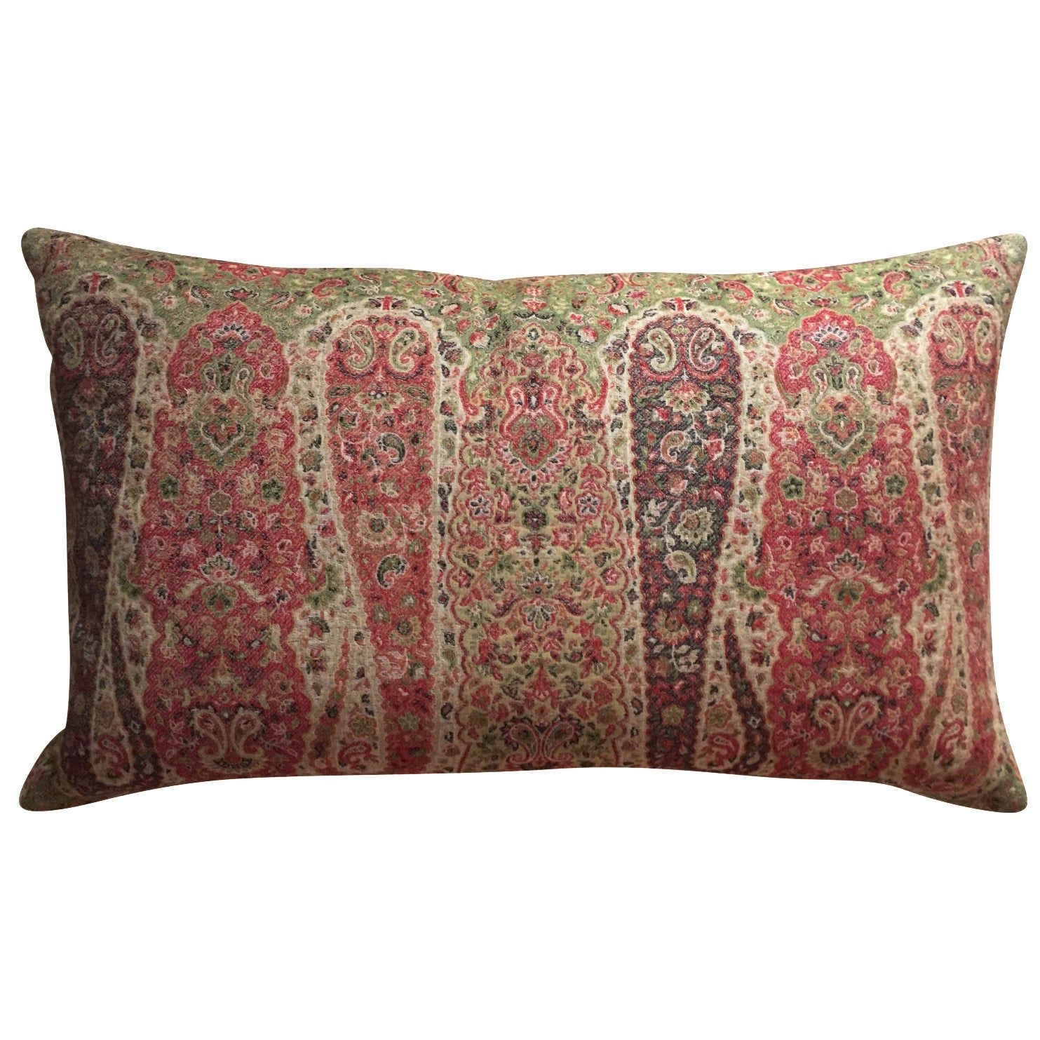 Vintage Wool Paisley Lumbar Pillow Chairish Paisley Bedding Shop Decorative Pillows Vintage Wool