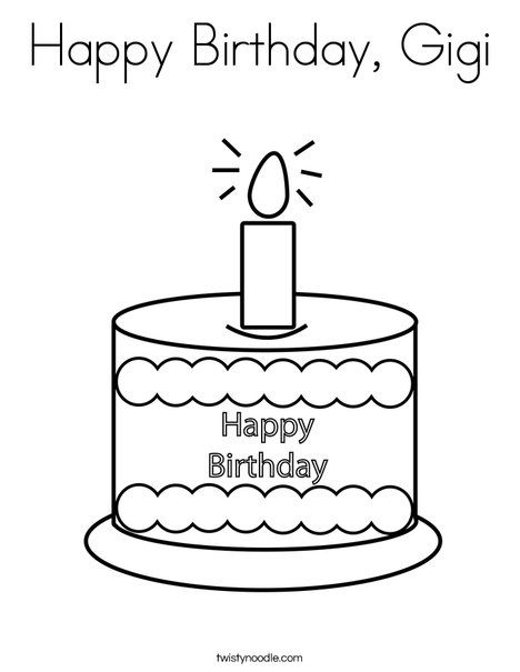 Happy Birthday Gigi Coloring Page Happy Birthday Coloring Pages Birthday Coloring Pages Happy Birthday Grandpa