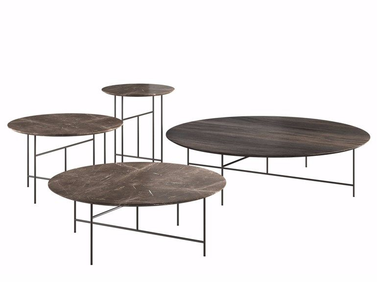 Table Basse Ronde De Style Contemporain Sen By De Padova Design