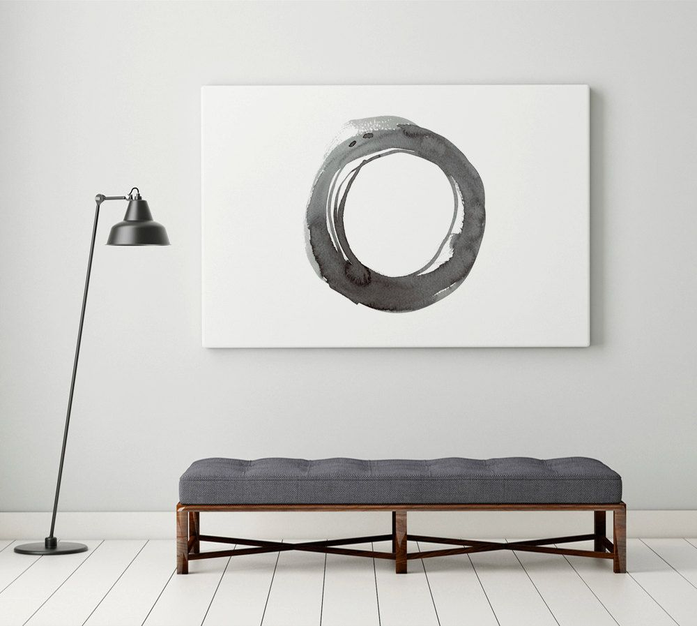 Abstract Painting Canvas Print Enso Minimalist Contemporary Wall Art Large Trending 24x36 Abstract Art Modern Oversized Wall Art Print by WhitePrintDesign ...  sc 1 st  Pinterest & Abstract Painting Canvas Print Enso Minimalist Contemporary Wall Art ...