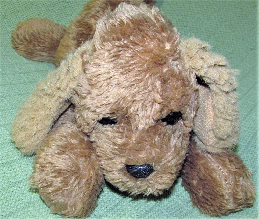 Vintage 19 World Of Smile 1990 Puppy Dog Tan Brown Plush Stuffed