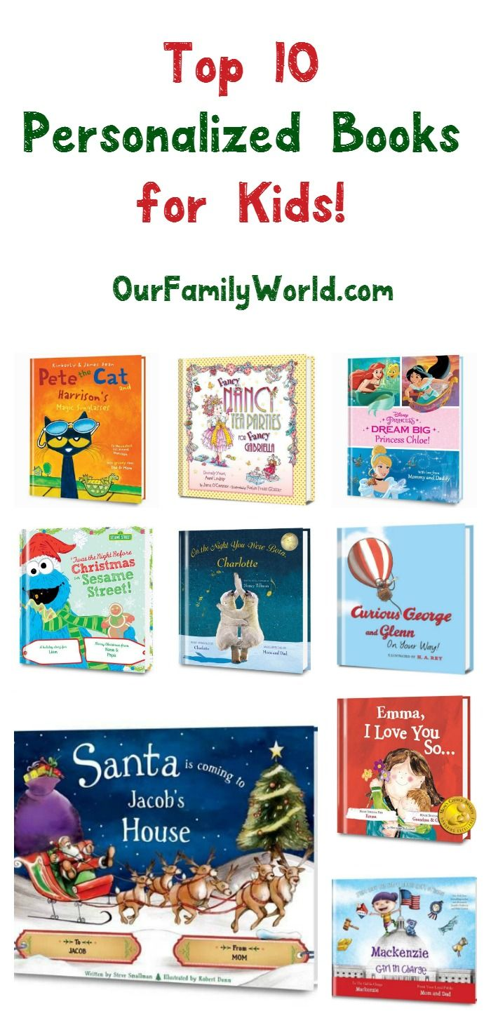 Holiday Gift Guide Top 10 Personalized Books For Kids