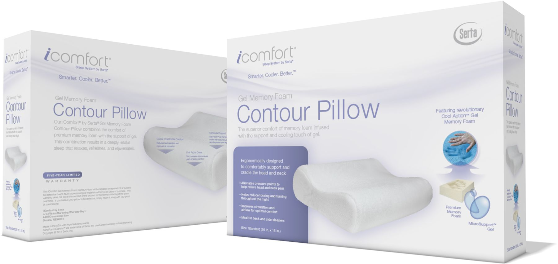 gel memory foam contour pillow