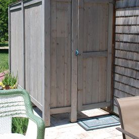 outdoor shower enclosure House to home Pinterest Outdoor
